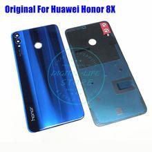 Oryginalny jakość dla Huawei Honor 8X powrót pokrywa baterii + szklany obiektyw aparatu widok 10 Lite obudowa wymiana naprawa części
