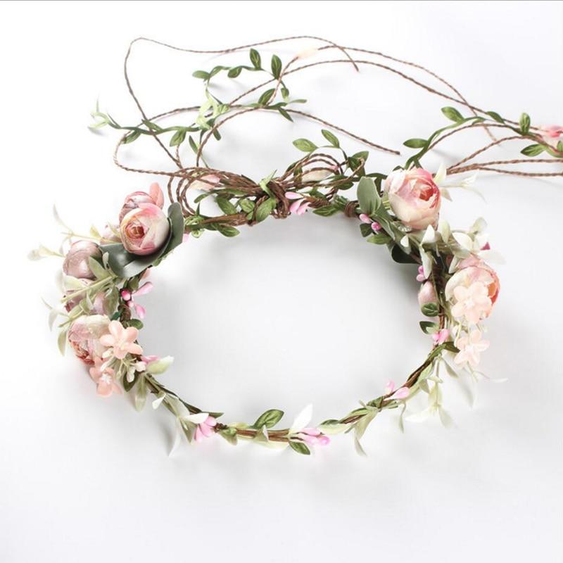 Party Supplies Bride Wedding Wreath Headdress Garland Headband Hair Band Wholesale Artificial Wreath Dried Flowers