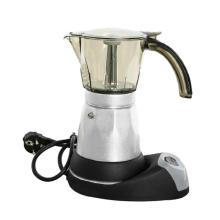 6 Cups Portable Electric Coffee Maker Stainless Steel Espresso Mocha Coffee Pot Percolator Tools Filter Italian Espresso Machine