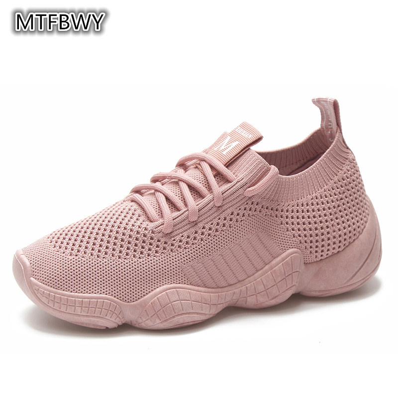 Women s Sneakers Mesh Breathable Pink Woman Fitness shoes Lace up Lightweight Black Women Running Shoes