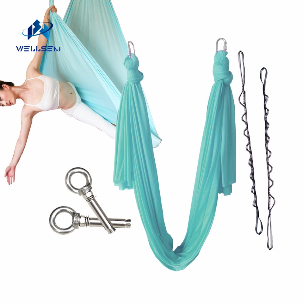 New colors 7meter fabric flying Yoga Hammock Swing Trapeze Anti Gravity Inversion Aerial Traction Device Yoga