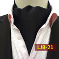 2017 British Style Solid Black Fashion Men Neckerchief High Quality Woven Ascots for Banquet Wedding Collar Handkerchiefs