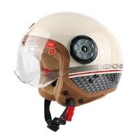 Free Shipping Motorcycle Jet Helmet 3 4 Open FACE Retro Vintage Jet Scooter Helmets Motocross Motorbike