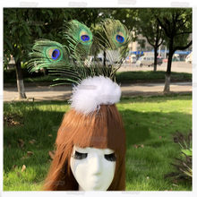 Fluffy Feathers Peacock Ornament Head Wear Hair Accessories Photo Props  Wedding Party Stage Show Dance Decorations cd06bdc3735c