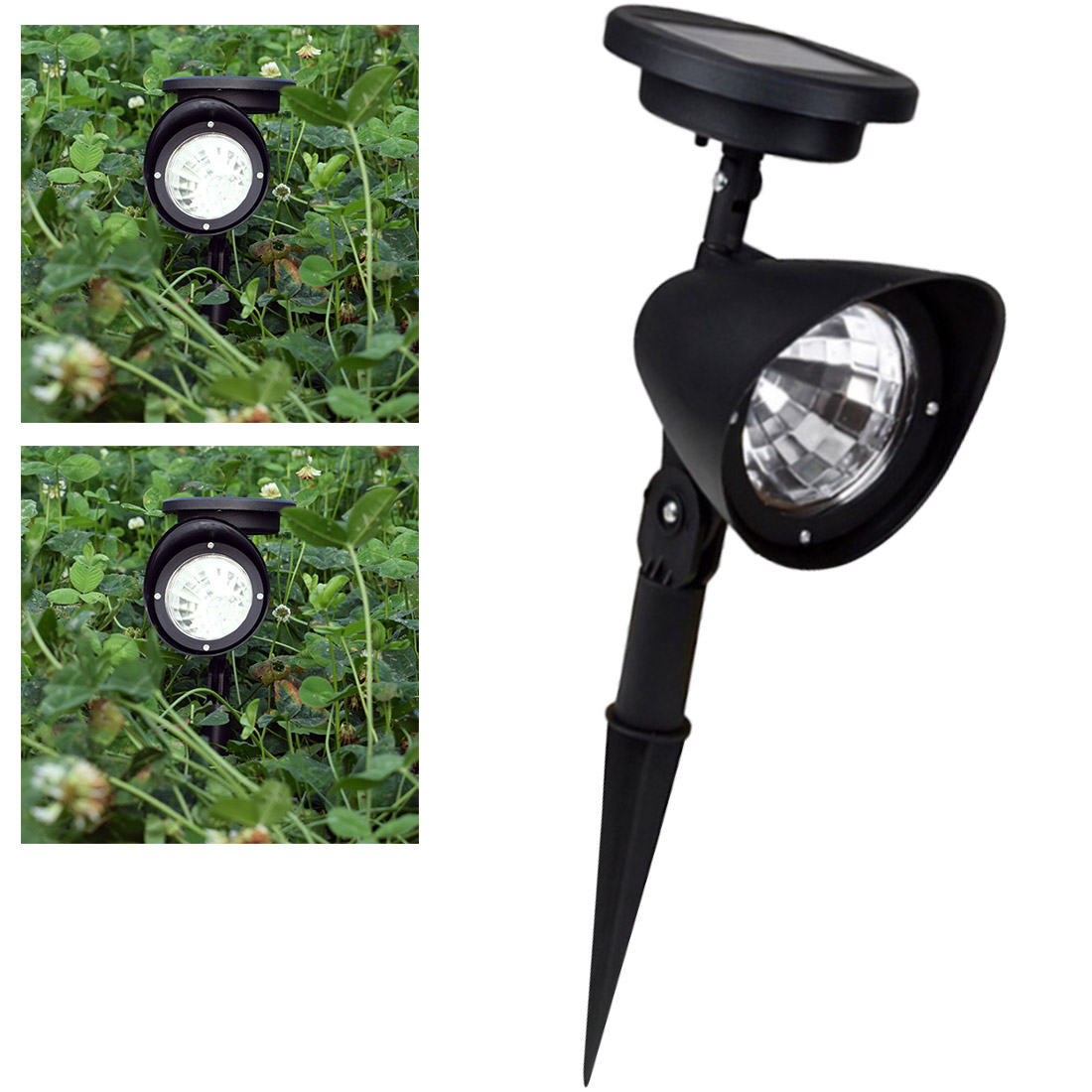 30cm Solar Energy Waterproof Lawn Lamp Outdoor LED Lights Lawn Garden Landscape Garden Yard Path Lawn Stake Lamp Home Decoration