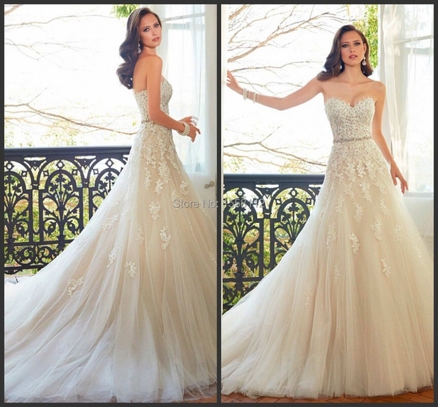 Bella Swan Wedding Dress A Line With Sweetheart Neckline Sleeveless Beading Belt Liques Lace Up