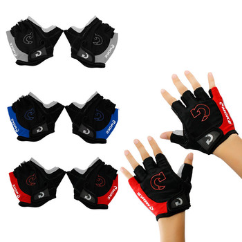 Guantes de Ciclismo de medio dedo, con plantilla de Gel, antideslizante, transpirables, para Guantes de bicicleta de carretera de montaña, para hombre y mujer, guantes deportivos de ciclismo, S-XL4.25