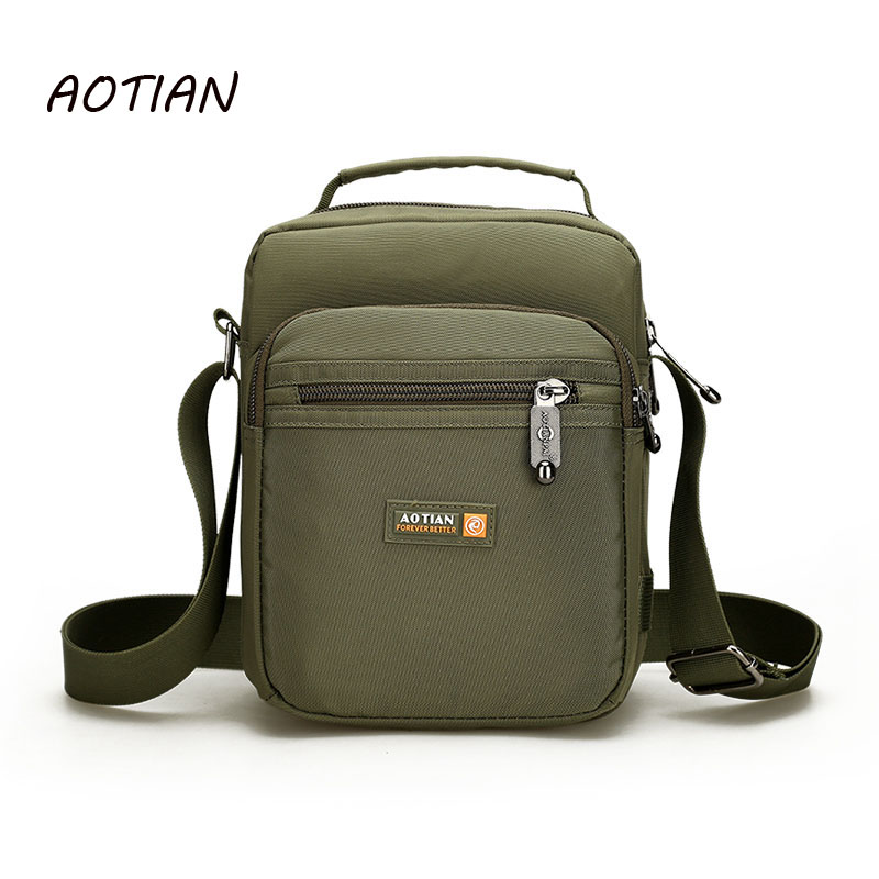 AOTIAN Brand 2018 men shoulder bags Male Casual messenger bags /waterproof nylon Business small crossbody bag Handbags women handbag shoulder bag messenger bag casual colorful canvas crossbody bags for girl student waterproof nylon laptop tote