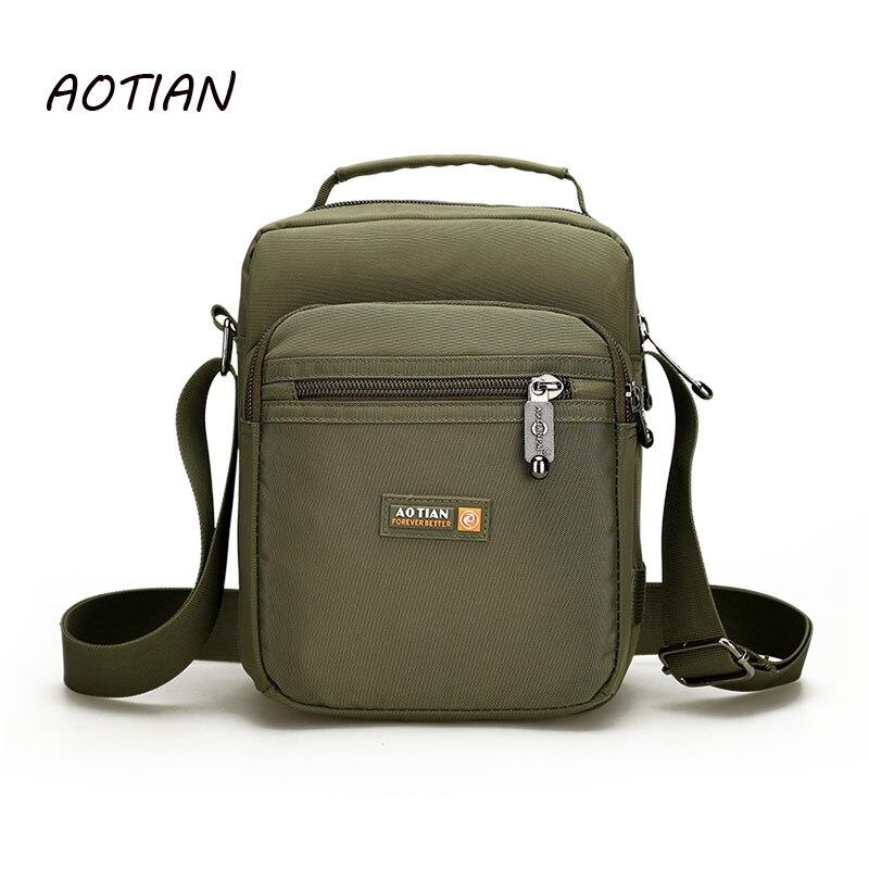 """""""AOTIAN"""" prekės ženklas 2019 vyriški pečių maišeliai Vyriški laisvalaikio maišeliai / vandeniui atsparūs nailonai"""