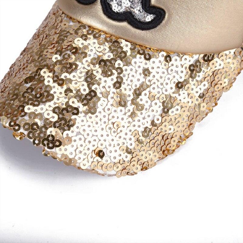 2017 Летние Шляпы Бейсболка Блестки Bling Hinning Сеткой Шапки Регулируемая Мода Женщин Девушки Шляпы Snapback Повседневная Gorra BC037