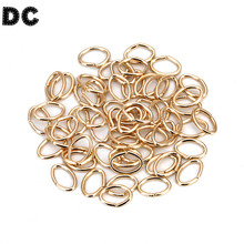 200pcs/bag 7*5mm Oval Gold/Silver/Rhodium Color Metal Closed Split Jump Rings for DIY Jewelry Making Findings Connector F5358