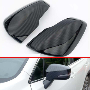 For Subaru Forester SK 2018 2019 Decorate Accessories Carbon Fiber Style Mirror Cover Trim Rear View Cap Overlay Molding Garnish|Chromium Styling| |  -