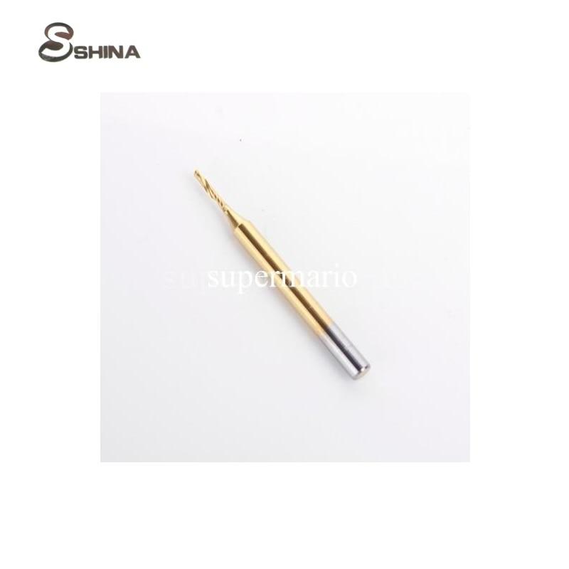 1pcs 1/8'' Titanium N2 Coated Carbide One Single Flute Spiral Bit Router 1.2mm x 6mm  Milling Cutter CNC 1 2 x 2 1 8 dual flute corner roundover bit router