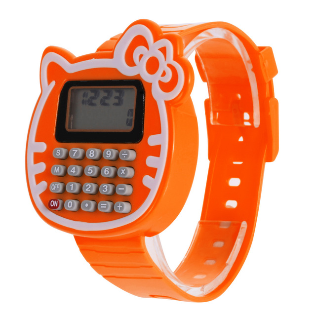 Children Kid Boy Girl Digital Watches Silicone Date Watch Can be Used as Calcula