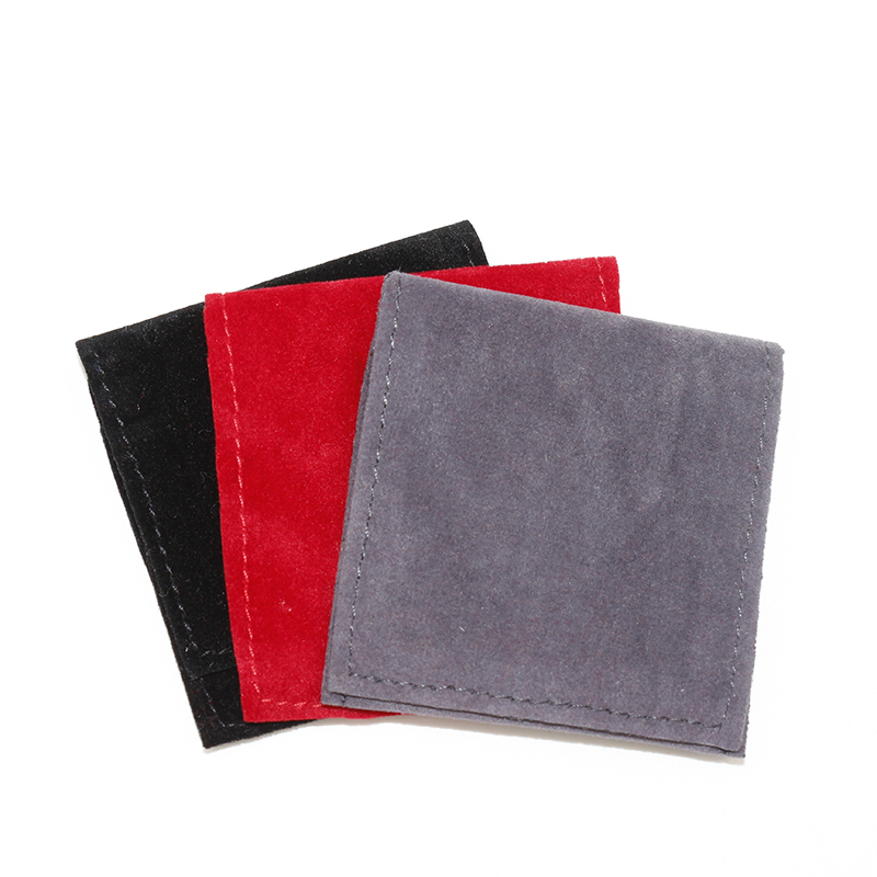 100pcs/lot 10*10cm Custom Logo Printed Velvet Pouch Packaging Jewelry Square Gift Pouch Bracelet Bag Cosmetic Pouch