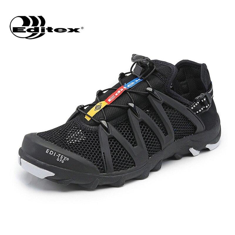 ФОТО Editex 2017 Summer Men Shoes Breathable Mesh Beach Water Shoes Men Super Light Fishing Aqua Shoes Men's Walking Shoes