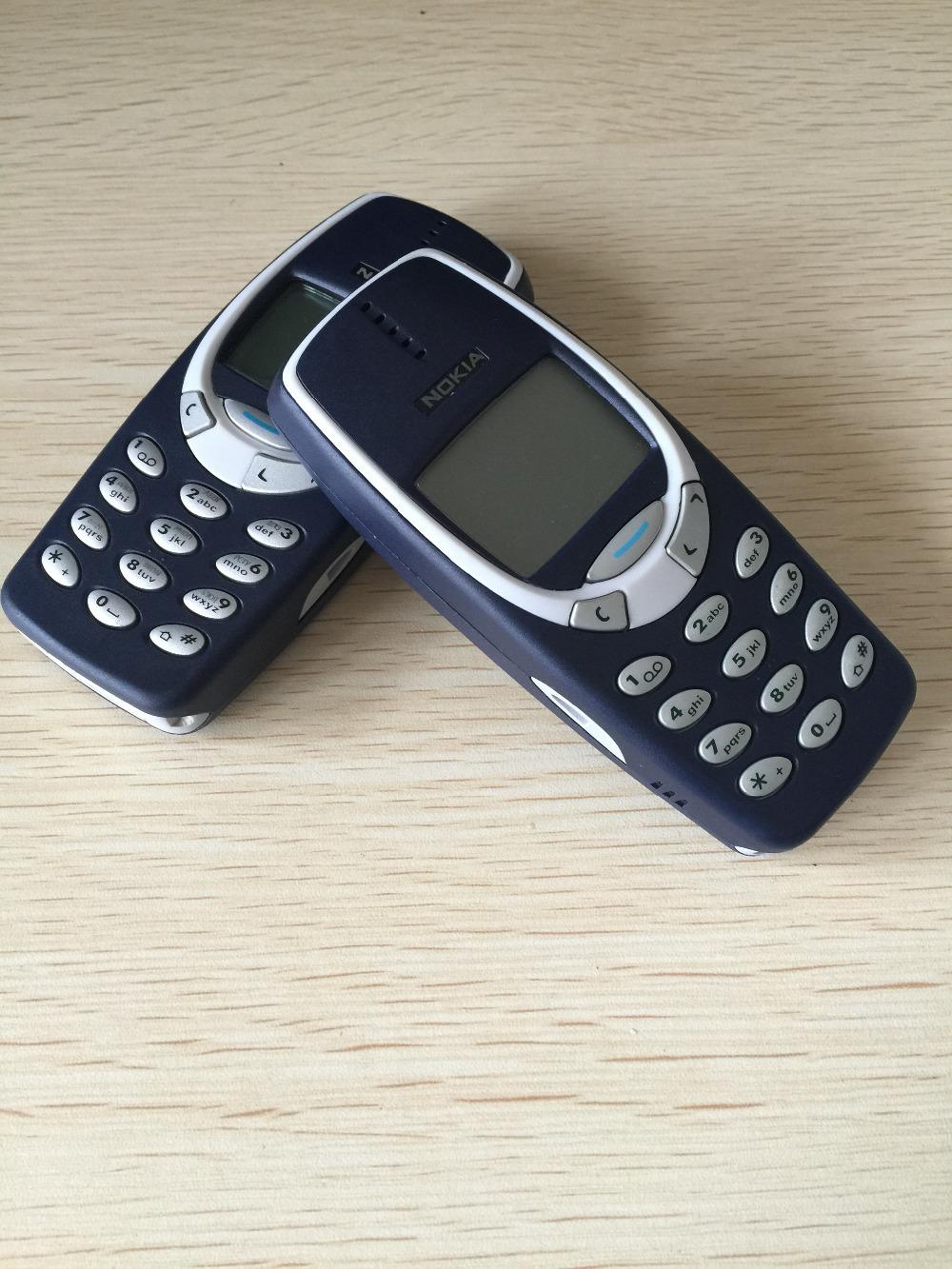 Refurbished phone Nokia 3310 cheap phone unlocked GSM 900/1800 with multi language dark blue 4