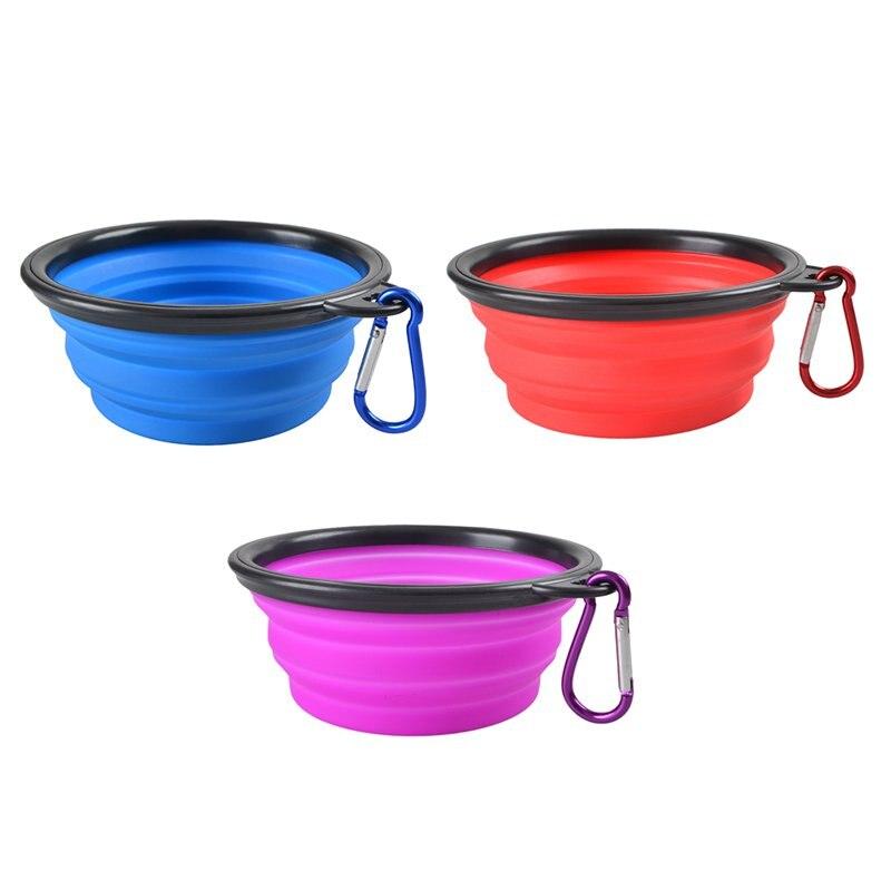 Collapsible Dog Bowl Plastic Portable Foldable Formas De
