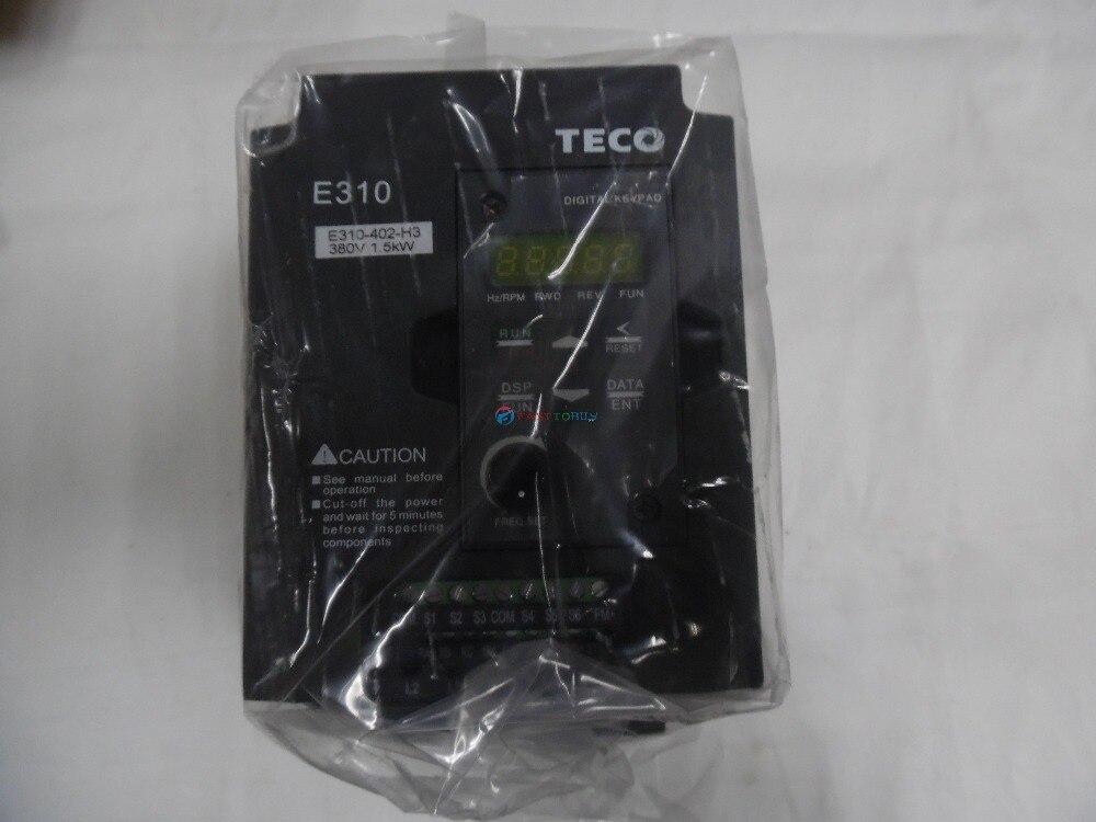 brand new inversor vfd teco e310 serie e310 402 h3 2hp 1500 w fase 380 480