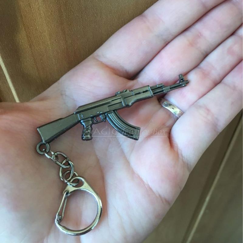Novelty Counter Strike AK47 Gun Charms Keychain Trinket Llaveros CS GO M16 AWP <font><b>Rifle</b></font> <font><b>Key</b></font> Chain <font><b>Ring</b></font> Men Jewelry Gift Souvenirs