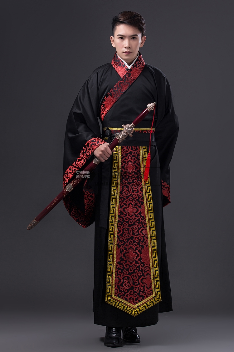 2017 ancient chinese costume men stage performance outfit