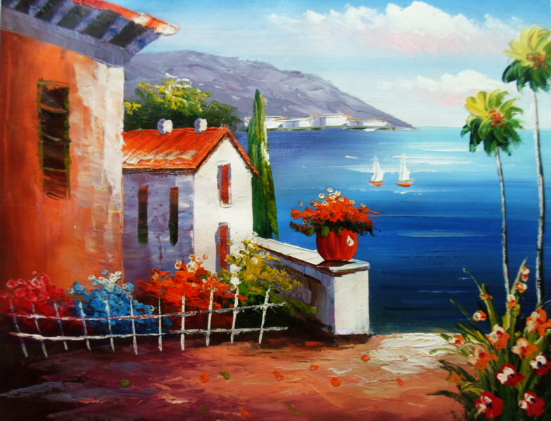 Frameless oil painting for home decor wall paiting picture oil painting handpainted landscape painting 5060 my home