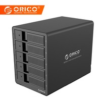 ORICO Aluminum 3.5 Inch 5bay HDD Docking Station USB3.0 to SATA With RAID Function HDD 5bay Enclosure 5 Bay HDD Case Black