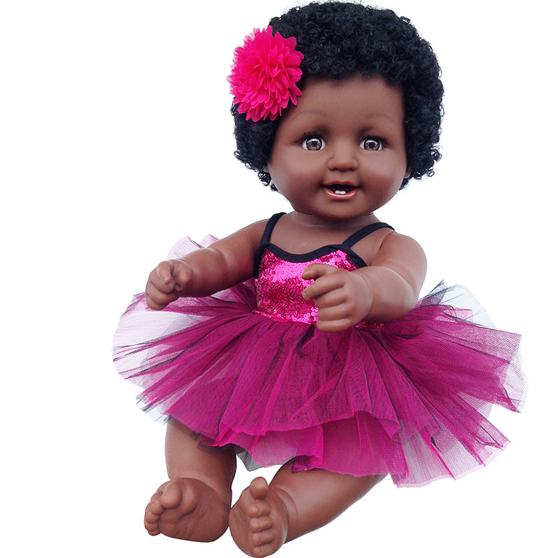 Baby Movable Joint African American Doll Toy Girl Black Doll Best Gift Toy Christmas Gift Playmate Boneca bebes reborn 50cmBaby Movable Joint African American Doll Toy Girl Black Doll Best Gift Toy Christmas Gift Playmate Boneca bebes reborn 50cm
