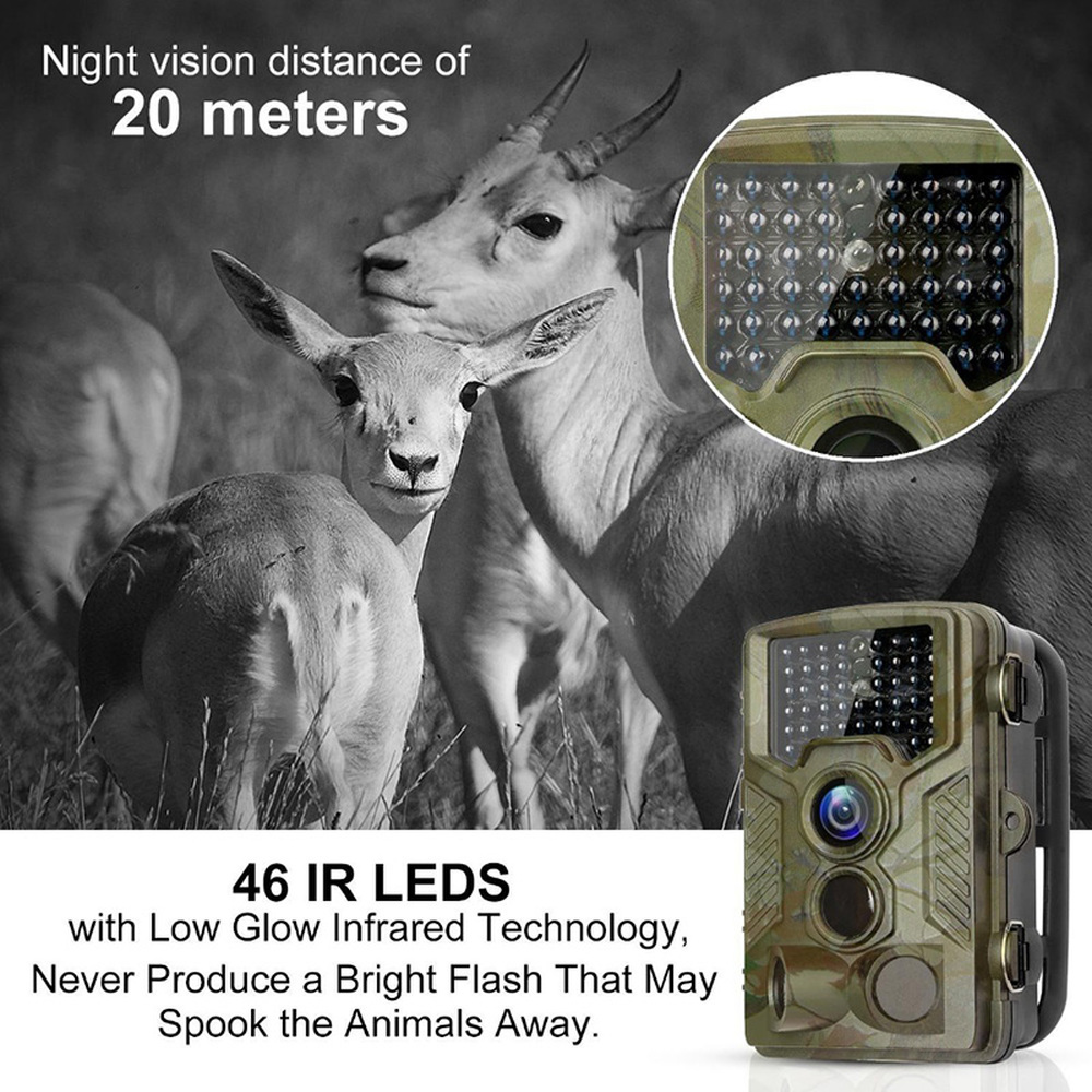 <font><b>HC800A</b></font> 1080P <font><b>Hunting</b></font> <font><b>Camera</b></font> 12MP Infrared Night Vision <font><b>Trail</b></font> Cameras Outdoor Wildlife Scouting Device PIR Sensor Photo Traps image