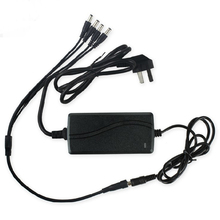 HJT 1 split 4 power cable adapter & 12V 5A CCTV power supply optional EU US AU UK Plug CBDZ Free Shipping