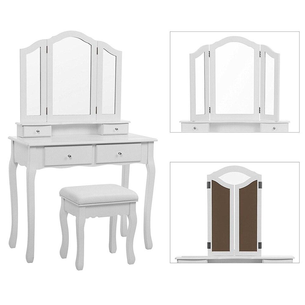 Moderne Da Letto Set maquillage miroir Table vanité Tocador Dressering bureau Mase bois assemblage Penteadeira pour Maquiagem femmes HWC
