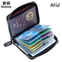 RFID-blokkeerhuls op het paspoort reisdocumententas plastic creditcardhouder 40 kaarten rits portemonnee