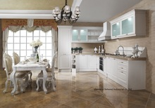 PVC/vinyl kitchen cabinet(LH-PV066)