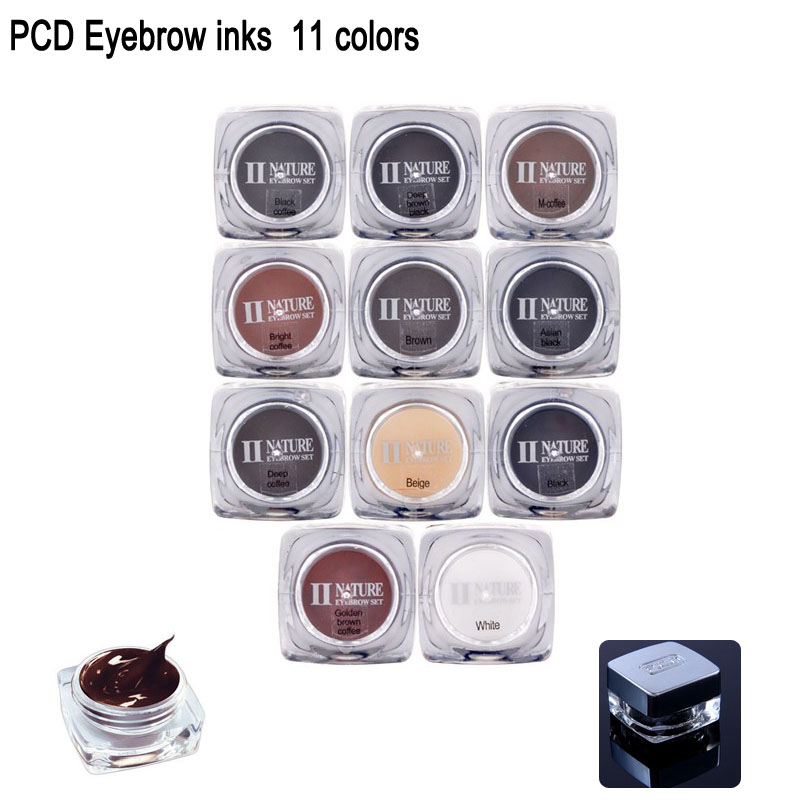 11 colors PCD Permanent Makeup Ink Tattoo Pigment Color Supply for Eyebrow Lip Tattoo Makeup Cosmetic Microblading PCD Inks hot sale mirco permanent makeup tattoo inks pigment for eyebrow makeup 10 colors free shipping goochie quality