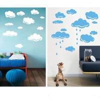 Free Shipping Rain Drops Clouds Vinyl Wall Sticker For Kids Room Wall Art Decor Children Nursery