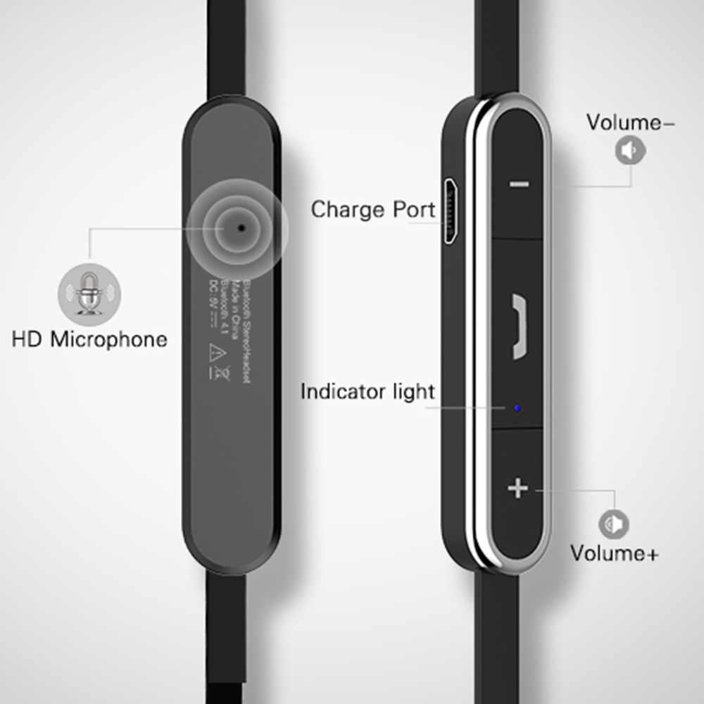 Langsdom ワイヤレス Bluetooth 電話のためのスポーツヘッドフォン金属低音イヤホンとマイク fone のデ ouvido