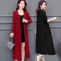 Plus Size 3XL 4XL 5XL Women Maxi Long Knitted Cardigan Sweater Outwear Women Mother Femme Casual Cardigan Coat New 2018 Autumn 5