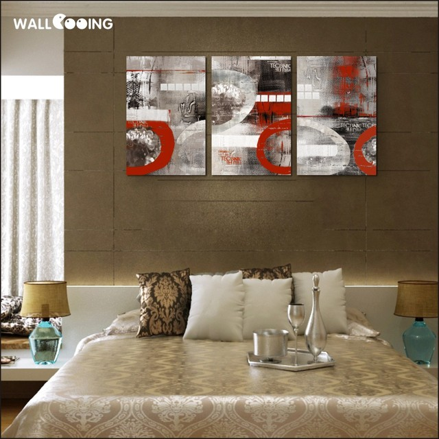 Abstract Red Painting Vertical Art Print Home