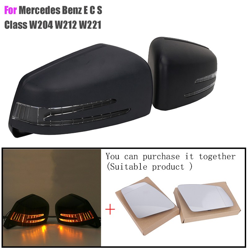 Car Styling Led Turn Signal Light Lens Cover Cap + Heated Mirror For Mercedes Benz W212 W204 W221 W176 AMG