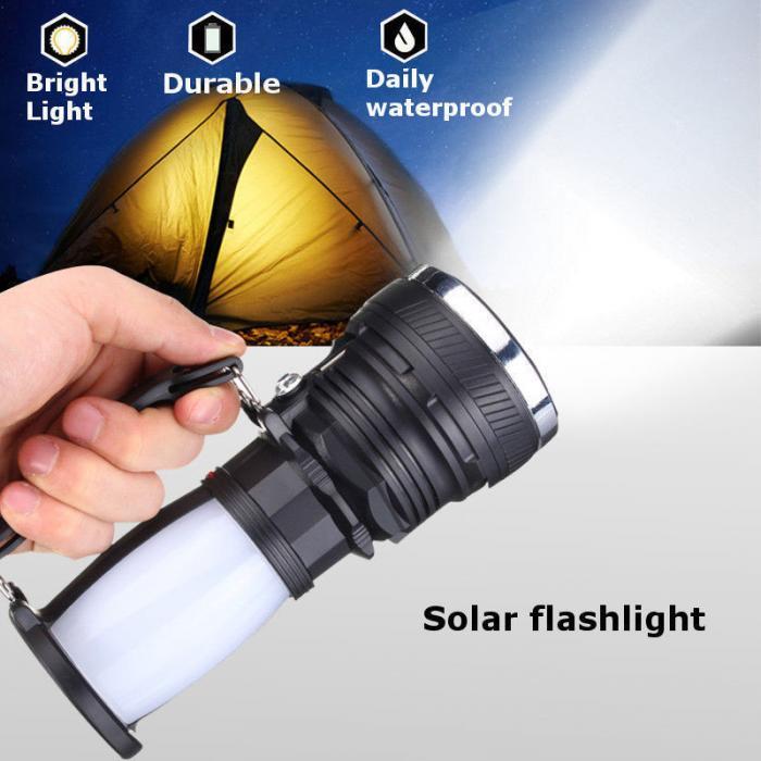 Lampe solaire batterie rechargeable LED lampe de poche en plein air Camping tente lumière lanterne lampe