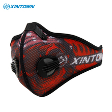 XINTOWN Mask Anti Pollution Ciclismo Cycling Mask Half Face Mask With Filter Neoprene Mask Activated Carbon Mesh Cloth
