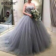 Cinza Sofuge TulleSweetheart Apliques vestido de Baile Puffy Plissado Vestidos Quinceanera Debutante Vestido 15 Anos Festa Custom Made