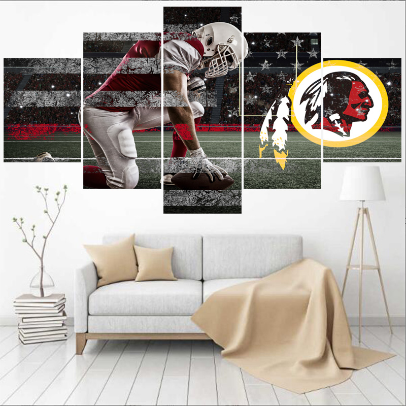 Super Us 6 0 25 Off Sport Team Washington Redskins Logo Paintings Wall Art Home Decor Picture Canvas Painting Calligraphy For Living Room Bedroom In Creativecarmelina Interior Chair Design Creativecarmelinacom
