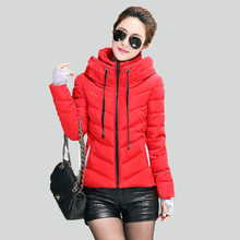 Down winter coat  women jacket short design 2015 winter thickening cotton-padded clothing parka overcoat casual winter coat