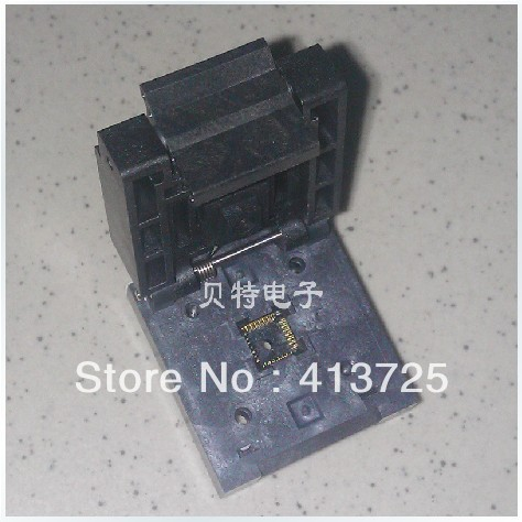 Block QFN-28B-0.65-01 test Valley IC, QFN28 programming adapter ic qfp32 programming block sa636 block burning test socket adapter convert
