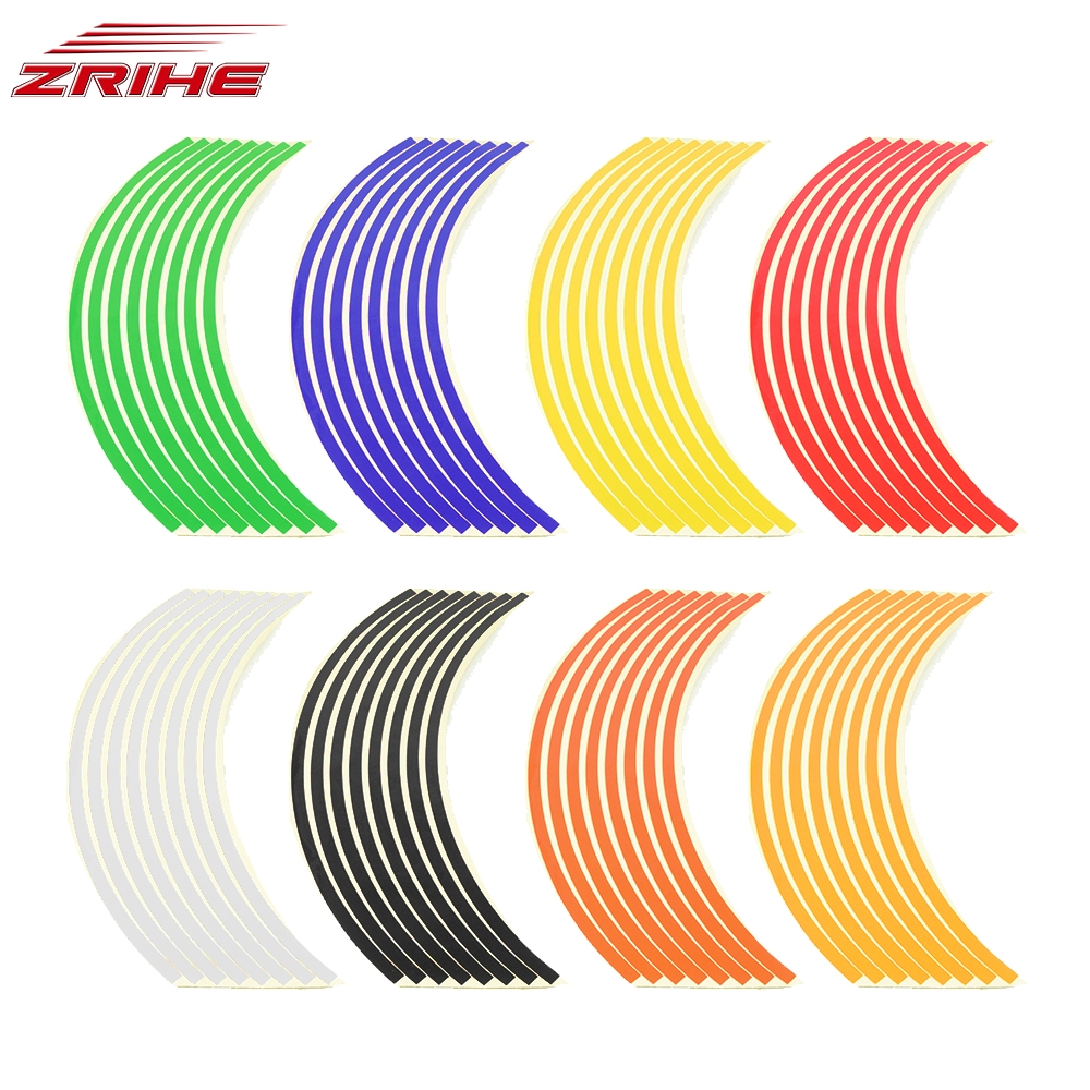 7 Color Options Motorcycle Wheel <font><b>Sticker</b></font> Rim Stripe 17 18inch <font><b>Stickers</b></font> for Honda VTR1000F CBR125R <font><b>CBR300R</b></font> CB300F CBR500R CB500 image