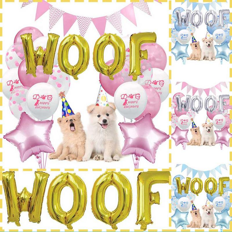 16 Inch WOOF Letter Balloon Combination Pet Dog Birthday Theme Aluminum Foil Balloon Decoration Wedding Party Supplies For Home16 Inch WOOF Letter Balloon Combination Pet Dog Birthday Theme Aluminum Foil Balloon Decoration Wedding Party Supplies For Home