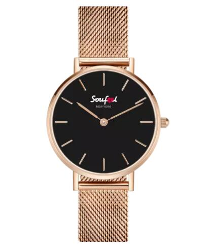 Women's Classic Rose Gold Alloy Bracelet Watch 32mm