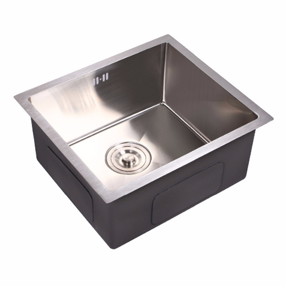 Single kitchen sink,400*350mm, food grade stainless steel, surface brushed, prevent odor, jam, water reflux, under or above free shipping food grade 304 stainless steel hot sell kitchen sink double trough 0 8 mm thick ordinary 78x43 cm