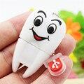 Cartoon Pen Drive Gift Teeth Cute Model 8GB/16GB/32GB/64GB Usb Flash Drive, Tooth Flash Memory Stick Pendrive Dentist U Disk